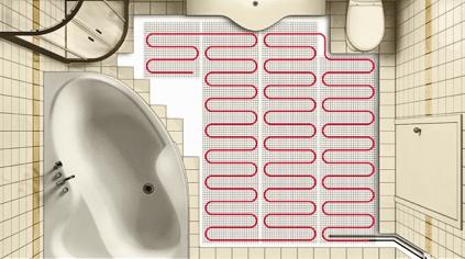 Схема подключение тонкого кабеля под плитку в ванной